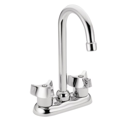 Moen M-Bition Double Handle Centerset Bar Kitchen Faucet