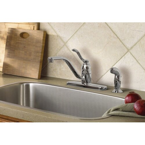 Moen Banbury One Handle Low Arc Lead Compliant  Kitchen Faucet