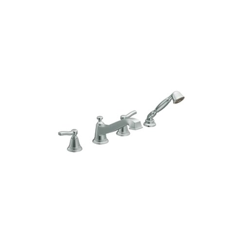 Moen Rothbury ADA Compliant Two Handle Roman Tub Shower Faucet Trim with Handle Shower
