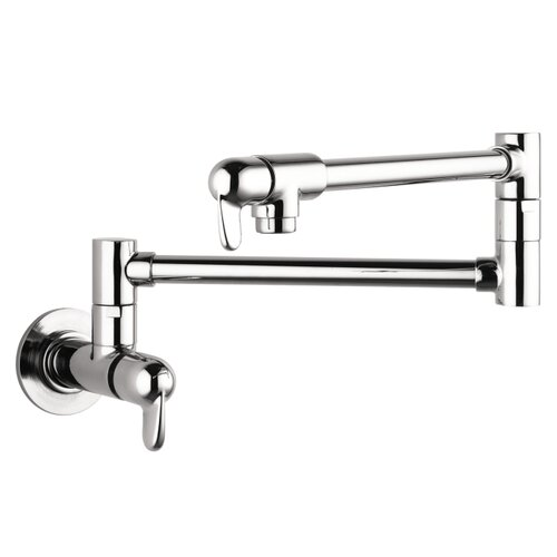 Allegro E Two Handle Wall Mounted Pot Filler Faucet