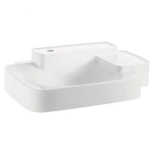 Axor Bouroullec Small Wall Mounted Bathroom Sink with Two Shelves