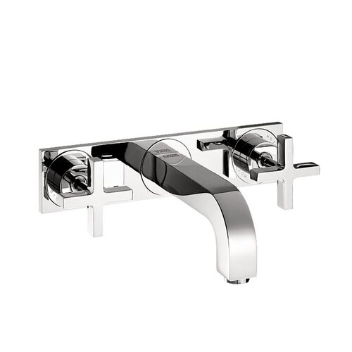 Hansgrohe Axor Citterio Wall Mounted Faucet with Cross Handle and Base Plate