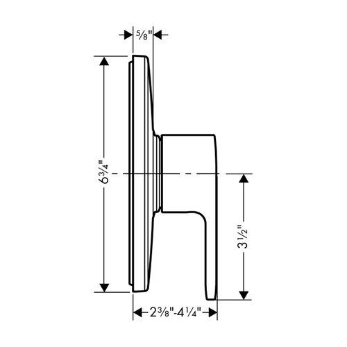 Hansgrohe HG Comercial E Pressure Balance Trim