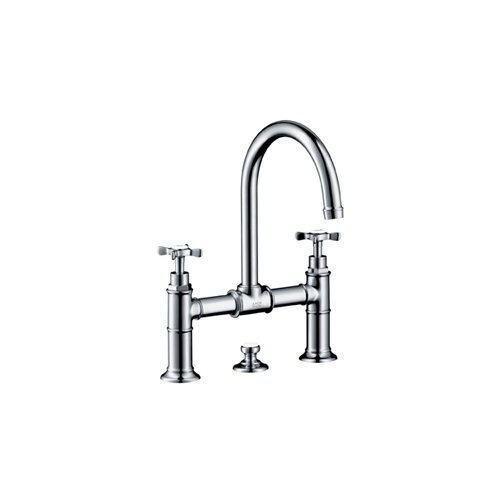 Axor Montreux Widespread Bathroom Faucet in Brushed Nickel