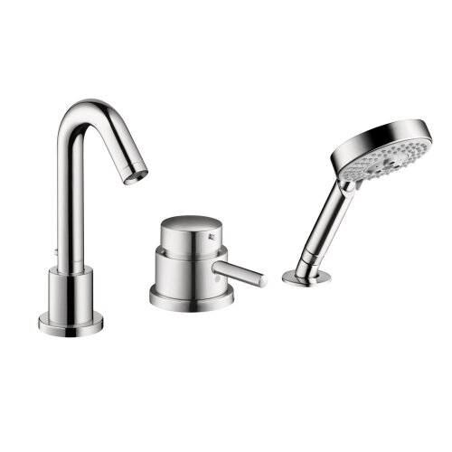 Metris C Single Handle Dual Function Roman Tub Faucet And