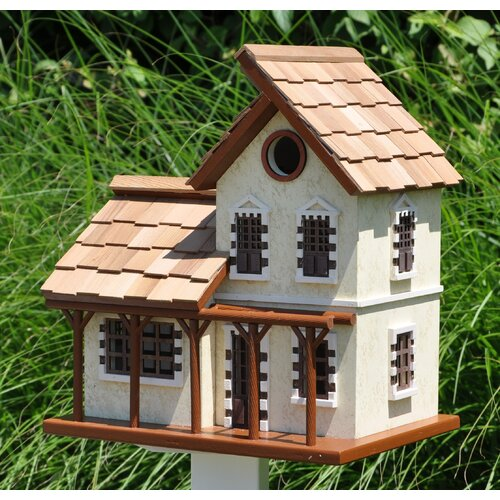 Home Bazaar The Queen's Hamlet Garden Cottage Free Standing Birdhouse