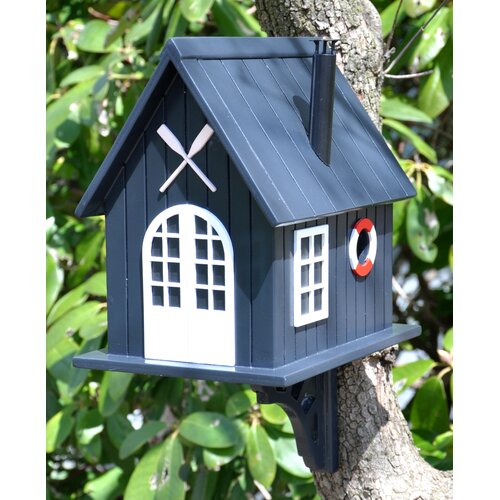 Home Bazaar Classic Series Boat House Birdhouse