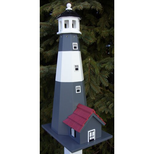 Home Bazaar Historic Reproductions Tybee Lighthouse Free Standing Birdhouse