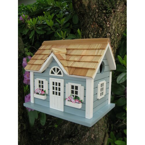 Home Bazaar Fledgling Series Nantucket Cottage Mounted Birdhouse
