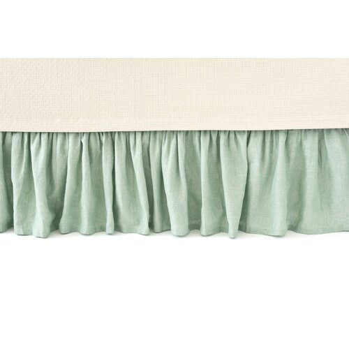 Pine Cone Hill Chambray Linen Ocean Bed Skirt