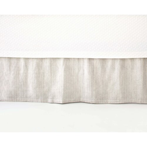 Pinstripe Linen Bed Skirt