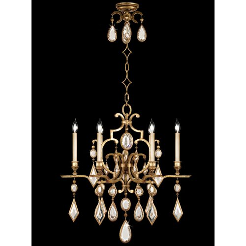 Fine Art Lamps Encased Gems 6 Light Chandelier