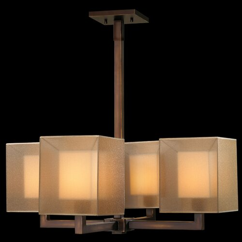 Fine Art Lamps Quadralli 4 Light Chandelier
