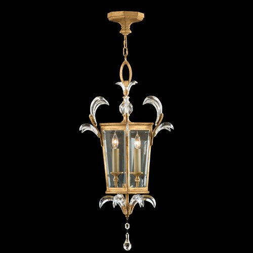 Fine Art Lamps Beveled Arcs Gold 3 Light Foyer Pendant
