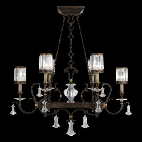 Fine Art Lamps Eaton Place 6 Light Oblong Chandelier