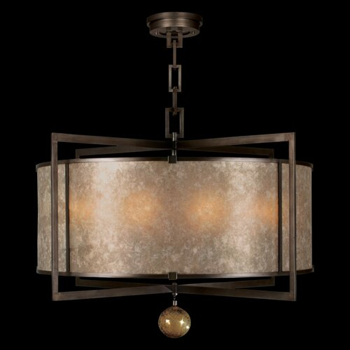 Singapore Moderne 8 Light Drum Pendant