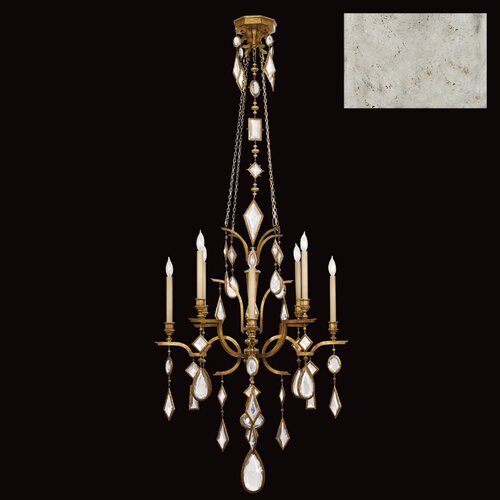 Fine Art Lamps Encased Gems 8 Light Chandelier