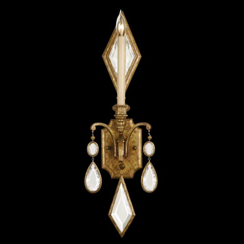 Fine Art Lamps Encased Gems 1 Light Wall Sconce