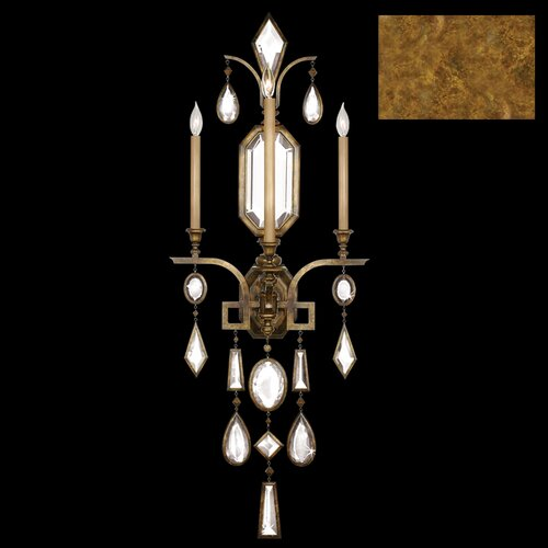 Fine Art Lamps Encased Gems 3 Light Wall Sconce