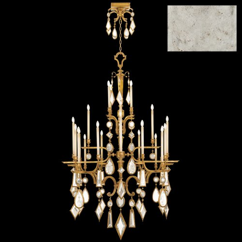 Fine Art Lamps Encased Gems 24 Light Chandelier