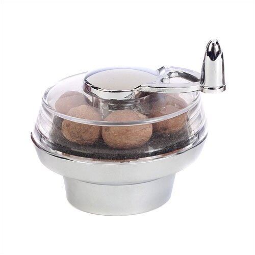 William Bounds 3.25'' Chrome Nut Twister Nutmeg Mill