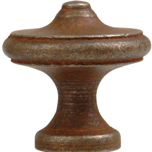 """Bosetti-Marella Antique Rust 1.3"""" Round Knob"""