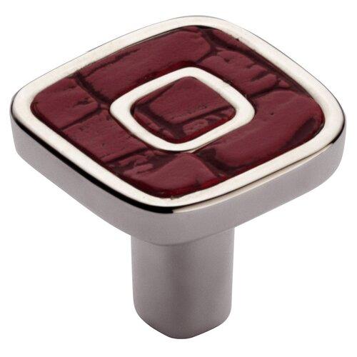 """Bosetti-Marella Jungle Touch 1.18"""" Red Eco-Leather Knob"""