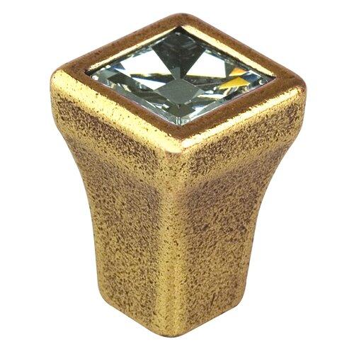 """Bosetti-Marella Swarovski Crystal 0.5"""" Square Knob"""