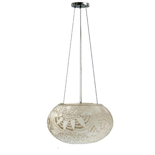 Tay Lighting Zinnia Globe Pendant with White Shade