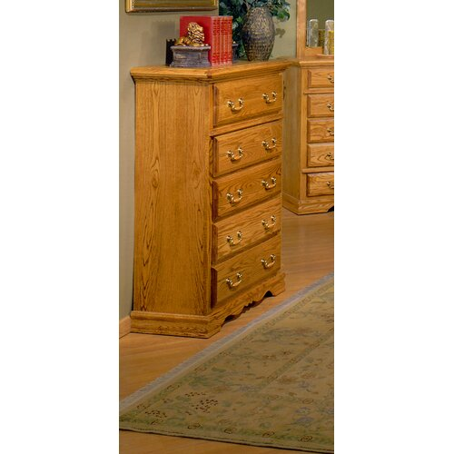 Bebe Furniture Country Heirloom 5 Drawer Safe Top Chest