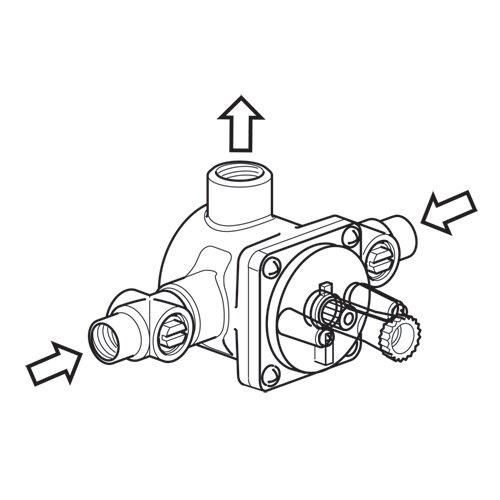 Hansa 3 Port Pressure Balance Valve