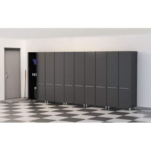 Garage 7' H x 15' W x 2' D 5-Piece Tall Cabinet Set