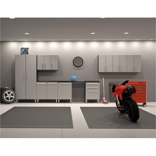Ulti-MATE 7' H x 18' W x 2' D 9-Piece Deluxe Cabinet Set