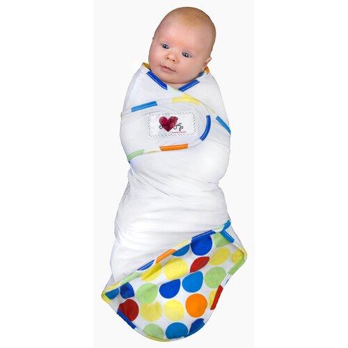 Go Mama Go Snug and Tug Swaddle Blanket, Caribbean Blue - Preemie