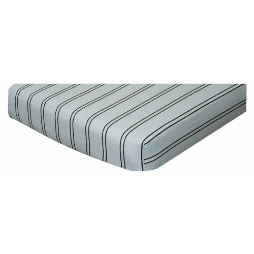 Go Mama Go Baby Basics Striped Crib Sheet