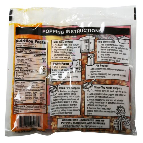 Great Northern Popcorn 12 Popcorn Portion Packs