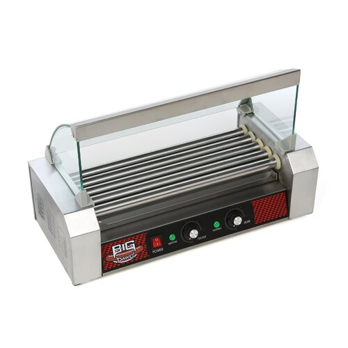 Great Northern Popcorn Big Dawg Commercial 5 Roller Hot Dog Machine with Cover