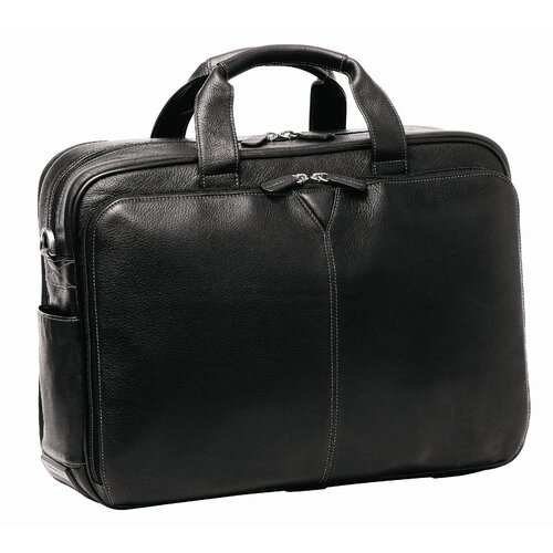 Johnston & Murphy Double Laptop Briefcase