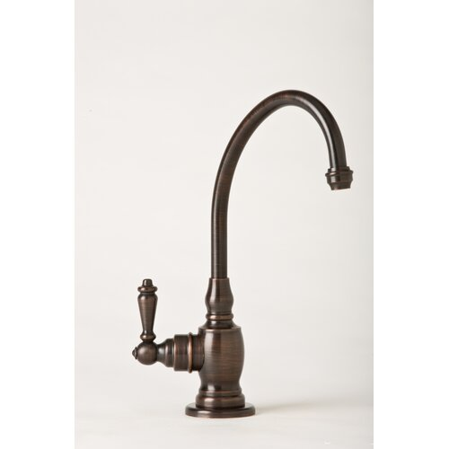 Waterstone Hampton One Handle Single Hole Kitchen Faucet with Lever Handle