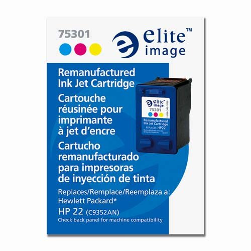 Elite Image Ink Cartridge, 165 Page Yield, Tri-Color