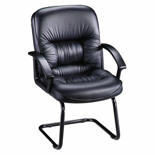 Leather Guest Chair with Sled Base