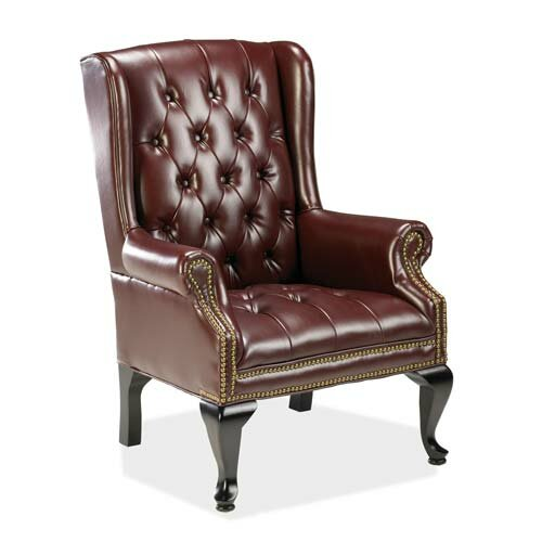 Lorell Guest Side Chair with Wood Leg