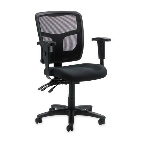 Lorell 86000 Series Mid-Back Mesh Managerial Chair with Arms