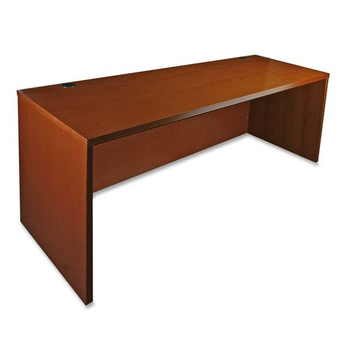 Lorell 88000 Series Rectangular Executive Desk with Fluted Edge