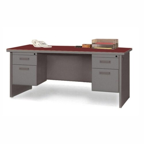 Lorell Durable Executive Desk with Radius Edges