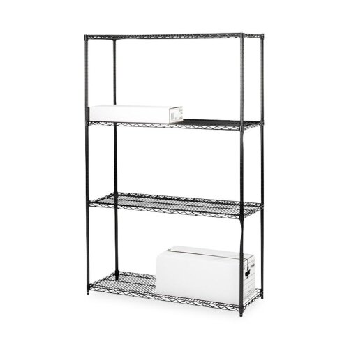 "Lorell Industrial Wire 72"" H 3 Shelf Shelving Unit Starter"