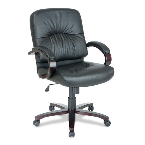 Lorell Mid-Back Woodbridge Series Managerial Chair