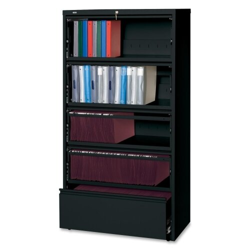 Lorell Receding Lateral Files Open Filing Unit