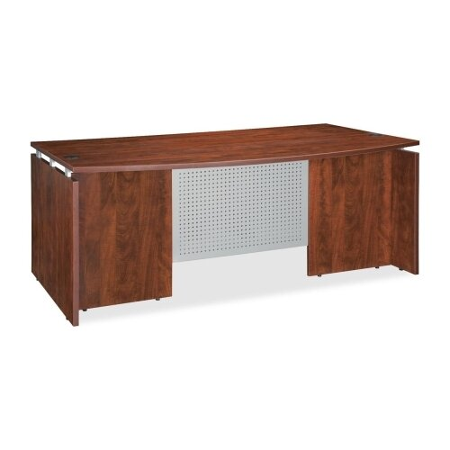 Lorell Bowfront Executive Desk Shell
