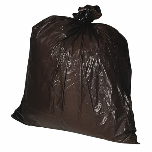 Genuine Joe Heavy-Duty Trash Bags, Brown